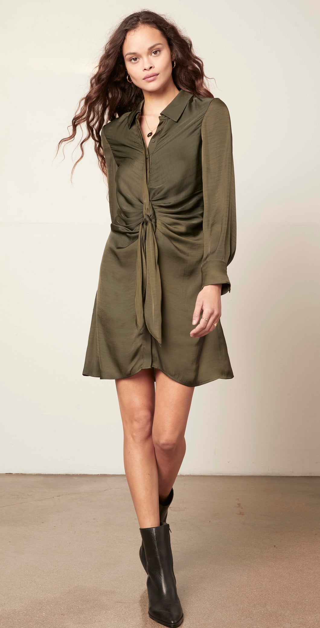 Olive Tie Curious Dress