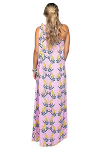 Jungle Cat One Shoulder Maxi Dress