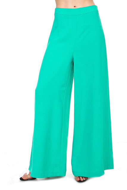 Green Wide Leg Pants