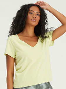 Lime Soft Vneck Tee
