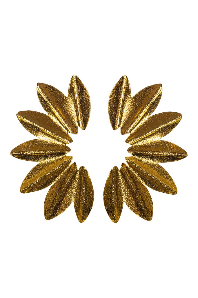 Gold Carmen Petal Studded Earrings