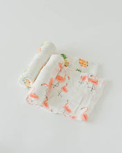GD-Deluxe Muslin Swaddle 2Pack