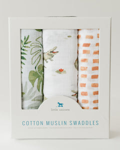 Cotton Muslin Swaddle 3Pack