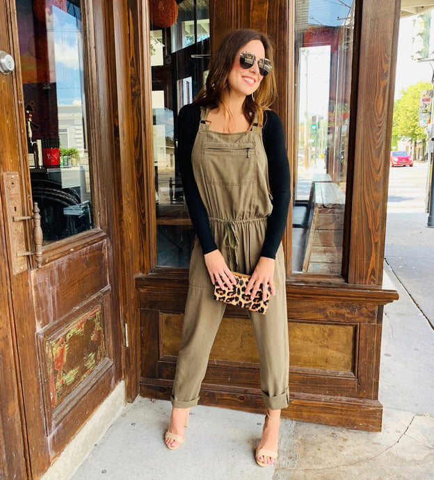 Olive Overall Jumpsuit