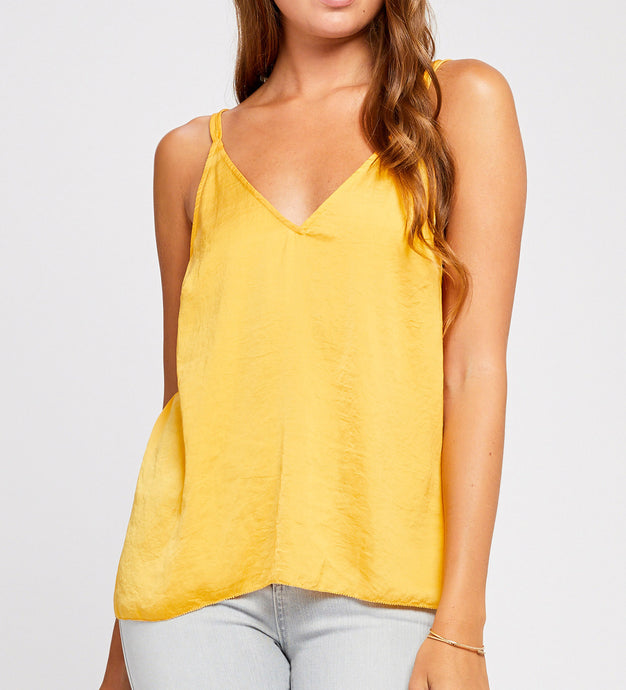 Apricot Cross Back Tank