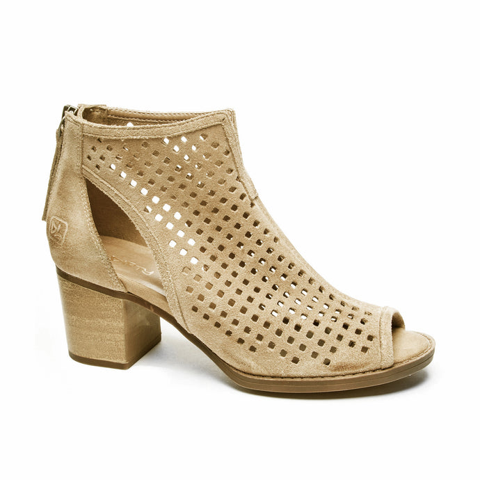 MR-Peep Toe Suede Bootie