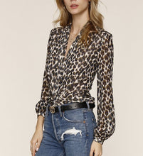 Leopard Knot Top