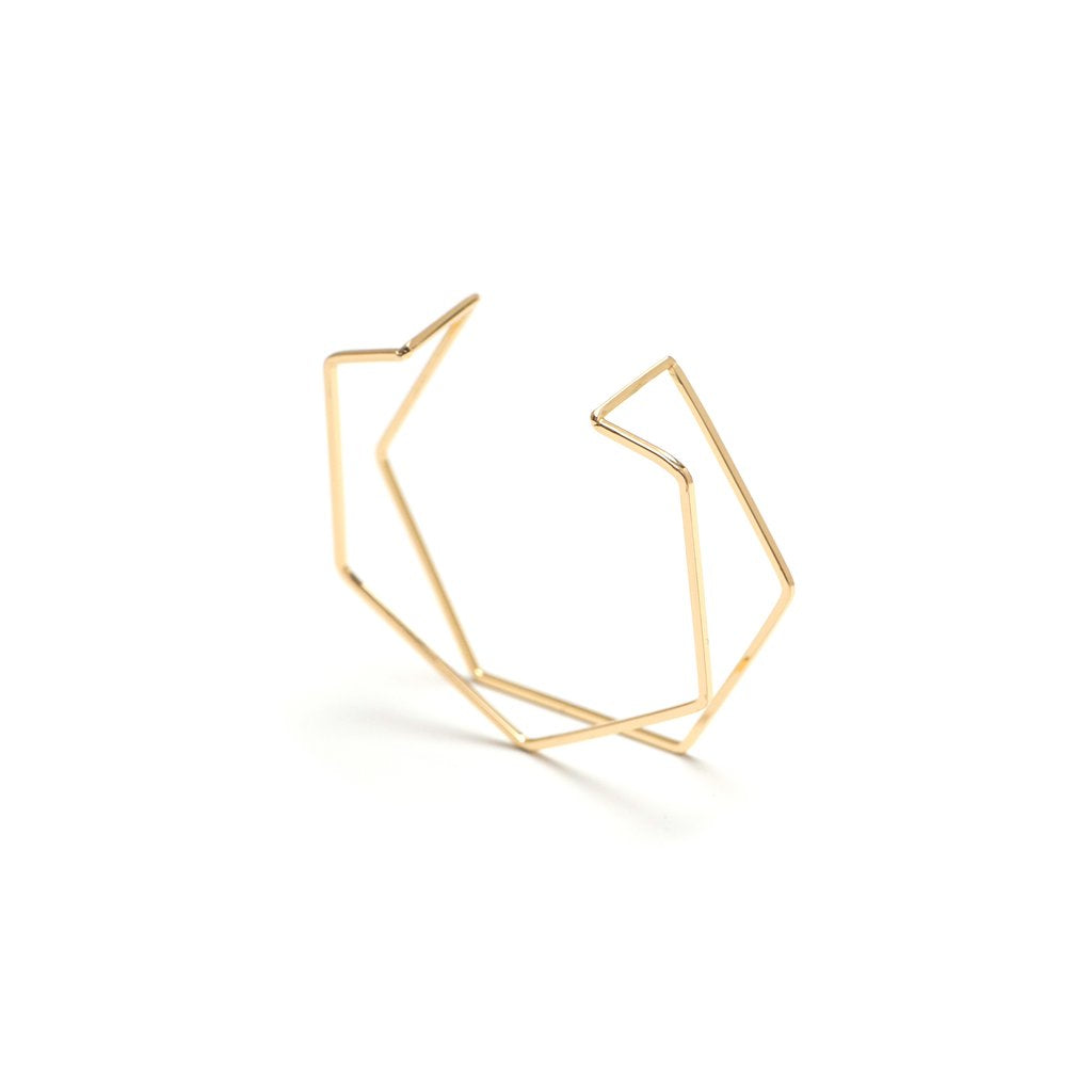GD-Gold Hex Bangle