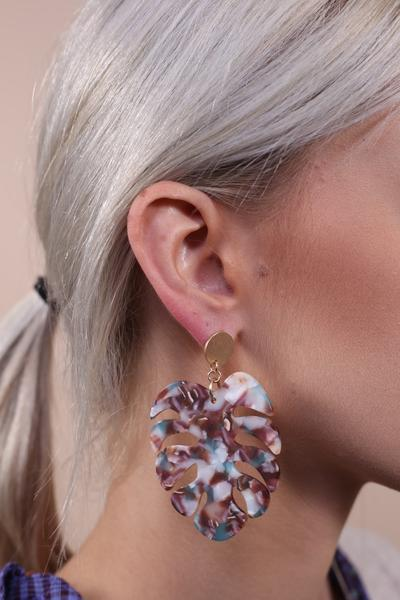 Love a Leaf Resin Post Earring