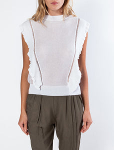 S/S Flutter Sleeve Sweater