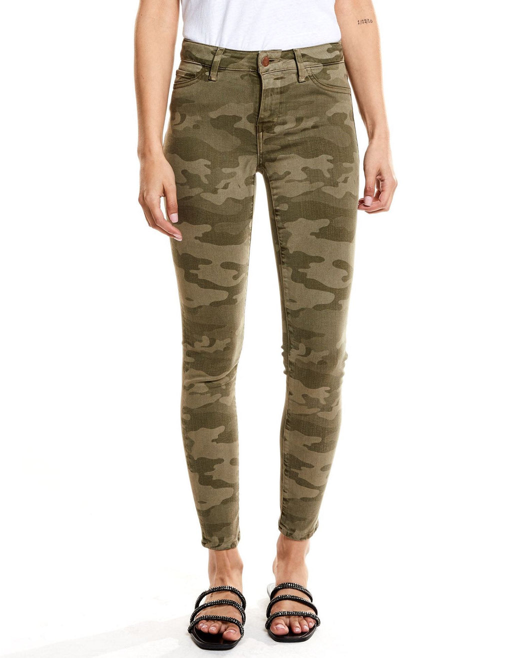 Camo Mid Rise Skinny Jeans