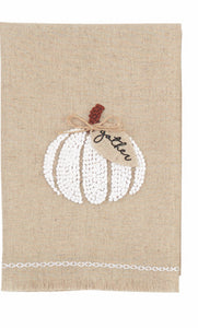 Gathered Pumpkin  French Knot Twl