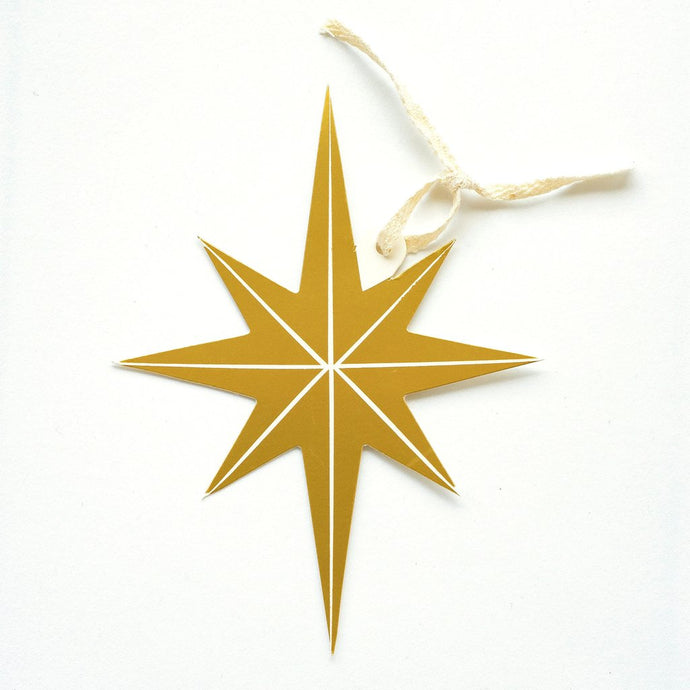 Star Gold Foil Gift Tag