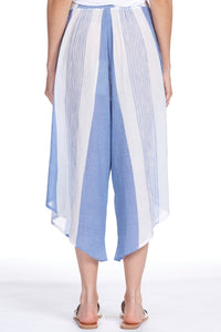Blue/Wht Wide Leg Pant
