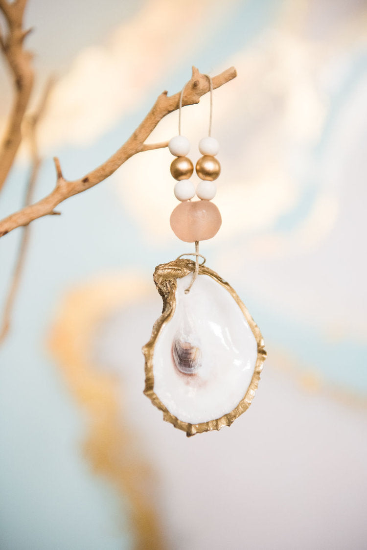 Oyster Bead Ornament