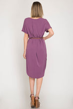 MR Short Sleeve Midi Dress