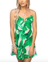 Key West Palm S/L Skater Dress