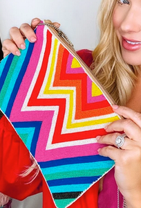 Fiesta Beaded Clutch