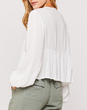 White Belladonna Peasant L/S Top