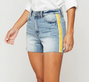 Yellow Stripe Relaxed Short