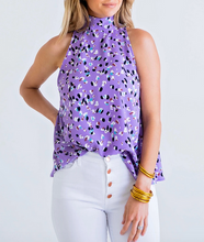 Lavender Abstract Dot Mock S/L Top