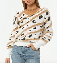 Ivory Mable Leopard Sweater