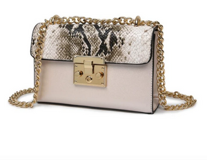 Mila Faux Snake Bag