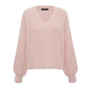 Pearl Vneck Cozy Sweater