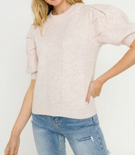 Ivory Short Puff Slv Sweater