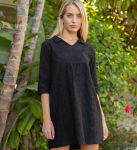 Black 3/4 Slv Frenchie Dress