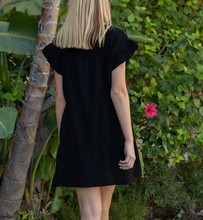 Black Ruffle Saint Remi Dress