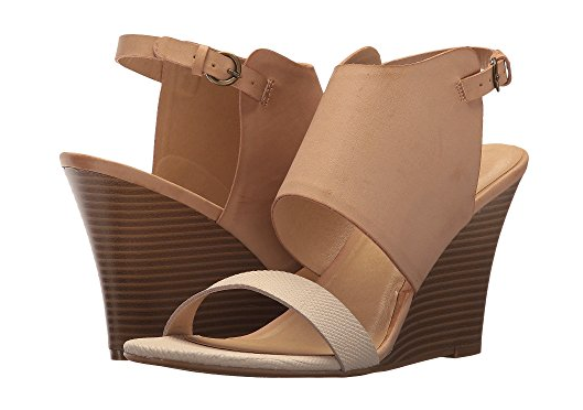 GD Taupe/Blush Snake Dbl Strap Wedge