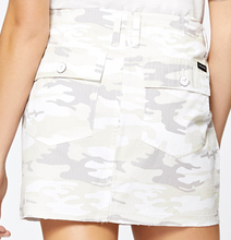 MR White Camo Denim Skirt