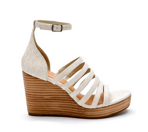 GD Beige Multi Strap Wedge