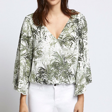 Tiki Palm Wrap Top