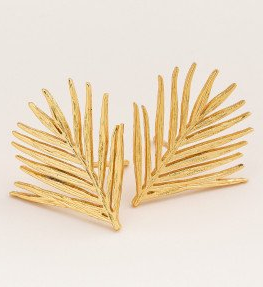 GD Palm Gold Studs