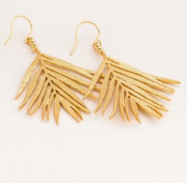 GD Palm Drop Earrings