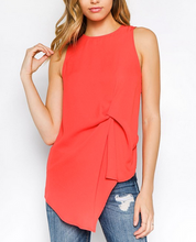 GD Poppy Red Asym Blouse