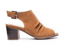 Brown Split Suede Wedge