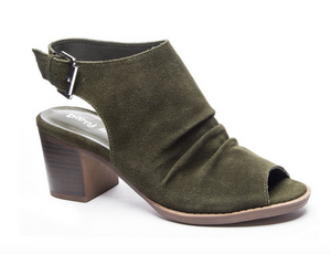 GD Olive Split Suede Wedge