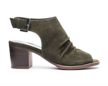 Olive Split Suede Wedge