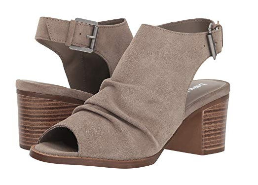 Grey Split Suede Wedge