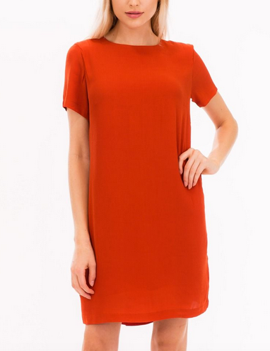 MR S/S Burnt Orange Shift Dress