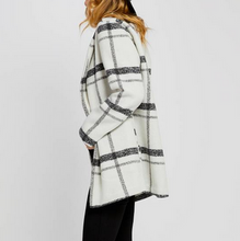 Grey/White Plaid Coat