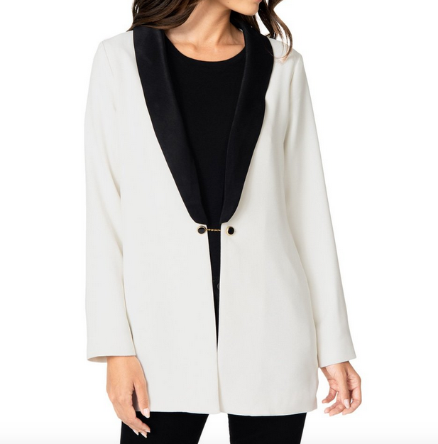 White Blazer with Chain Hook