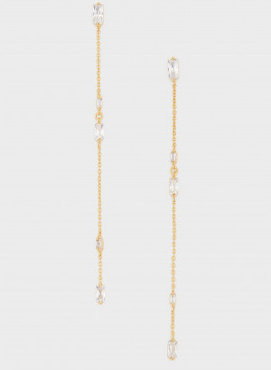Amara Drop Earring White/Gold