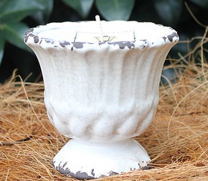 Small Distressed Urn Candle