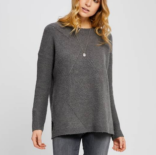 Long Slv Knit Sweater