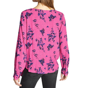 Pink Floral Wrap It Up Blouse