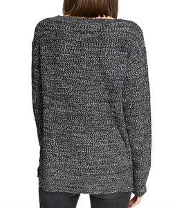 Amare Black & Winter White Sweater